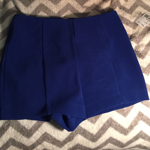 17% off Forever 21 Pants - Royal blue knit high waisted shorts ...