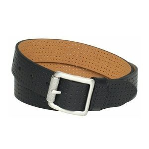 NikeGolf Women's Perforated Black Leather Belt M