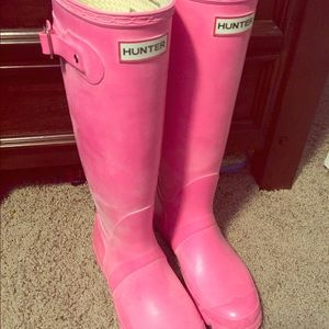 Hunter boots- pink