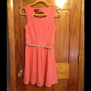 Iz Byer Dresses & Skirts - Coral Lace Dress