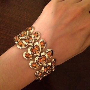 """Vintage Crystal Bracelet 6.5""""-7.5"""""""