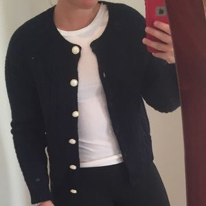 FOREVER 21 NWT Navy Cable Knit Cardigan Size S