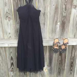 Dresses & Skirts - Little black dress with Halter top and tulle