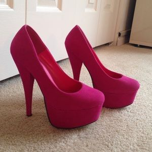 Traffic Shoes - Pink Suede Pumps