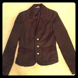 Bloomingdales brown tapestry blazer M