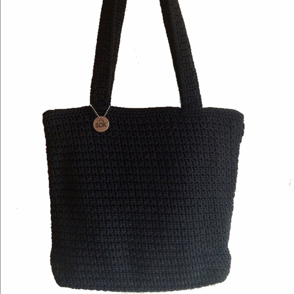 88% off The Sak Handbags - The Sak Black Crochet Shoulder Bag from ...