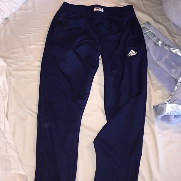 Adidas - Women's Navy Blue Soccer Pants from Grace's ...