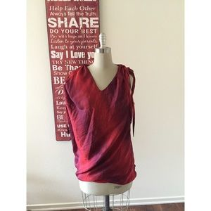 Ports 1961 Tops - Ports 1961 Red 100% Silk Top
