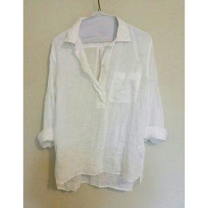GAP linen popover blouse