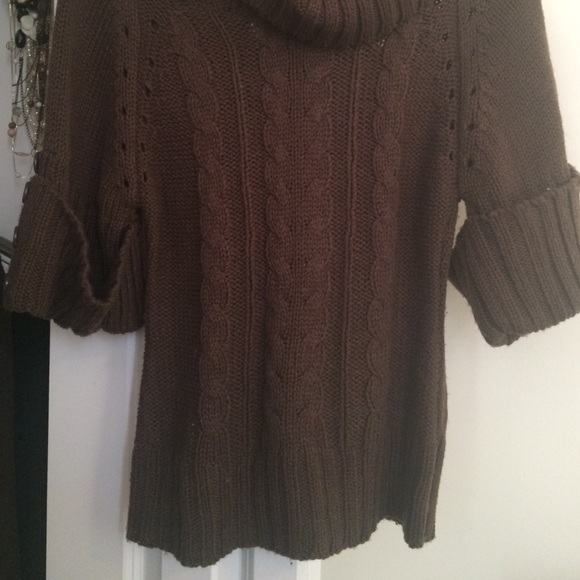 63% off Charlotte Russe Sweaters - Dark Brown Cowl Neck Sweater ...
