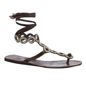 Laidback London Anthropologie Leather Sandals
