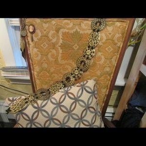 Last chance! Gold Toned Metal Waist Belt