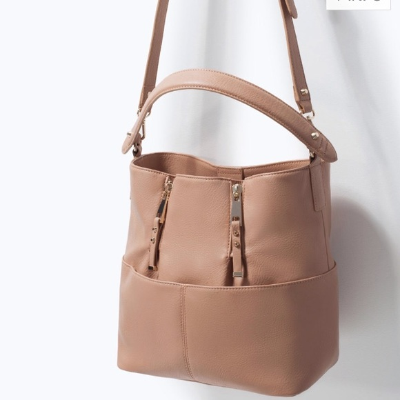 50 Off Zara Handbags 🎉host Pick🎉 Zara Bucket Bag With