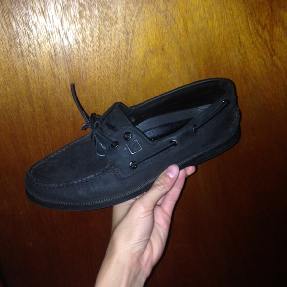 Sperry Shoes   All Black Sperrys   Poshmark