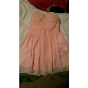 Dresses & Skirts - Pink chiffon formal dress