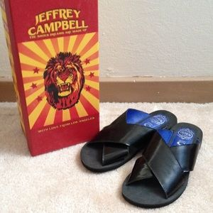 Jeffrey Campbell black Caprese Sandals size 6