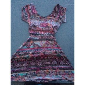 Multicolor Aztec Dress