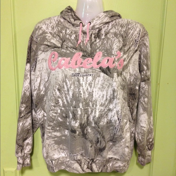 8a25737305 Cabela s Outerwear - CABELA S - Pink   Gray Camo Hoodie