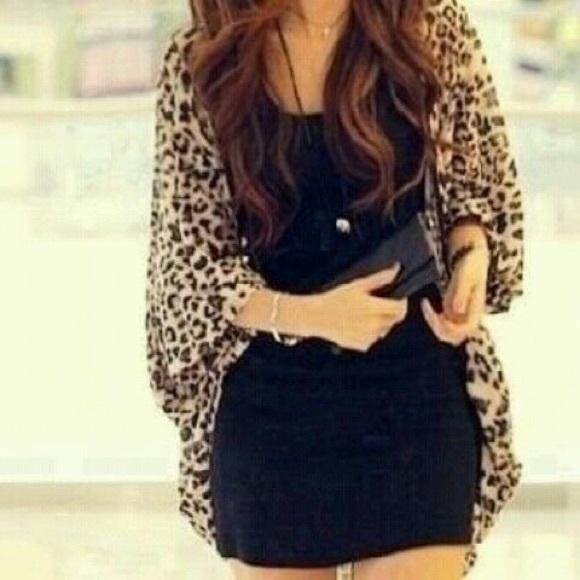53% off H&M Jackets & Blazers - Leopard Kimono Cheetah Print Knit ...