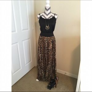 Boston Proper Cheetah Print Maxi Skirt