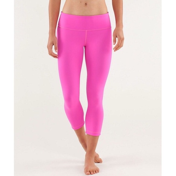 40% off lululemon athletica Pants - Lululemon hot pink and plum ...