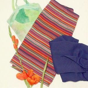 Striped Print mini skirt