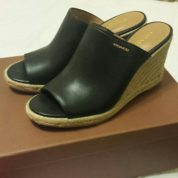 c5e3016d94a NWT Coach Gayle espadrille wedge sandals NWT