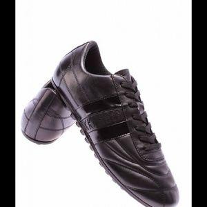 Bikkembergs Shoes - Bikkembergs black leather soccer shoes