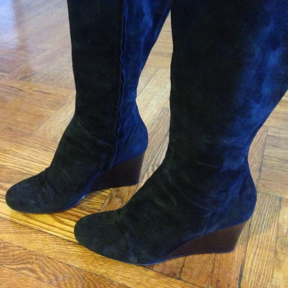 78 cole haan shoes cole haan cora black suede wedge