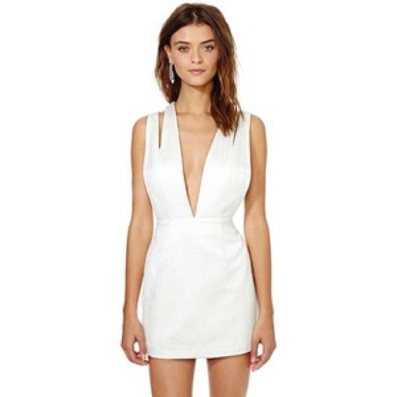 e9009d3520c Nasty Gal White dress size XS
