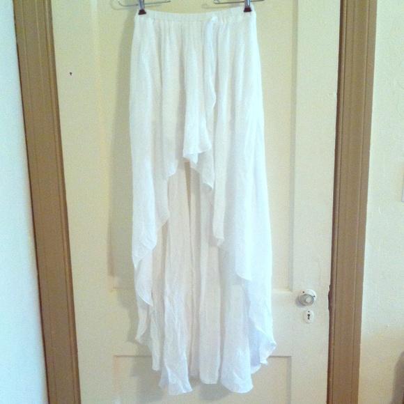 095599b6e annabelle Skirts | Offwhite Highlow Chiffon Skirt | Poshmark