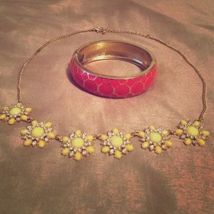 Pop Color necklace and bracelet