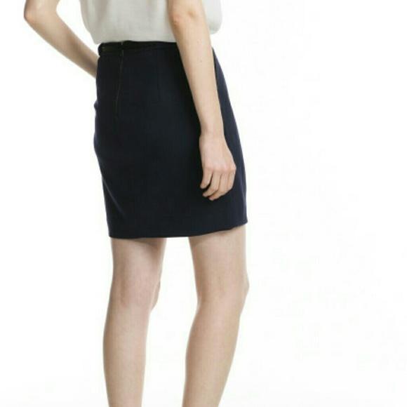 69 mango dresses skirts navy pleated tulip skirt