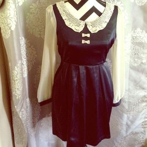 Navy Blue & Cream Miss Patina Dress