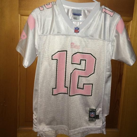 Girls patriots jersey pink Brady