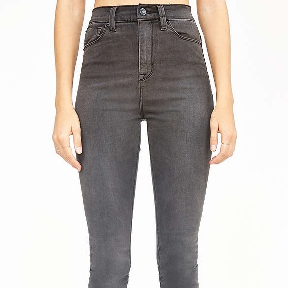 High rise jeans grey