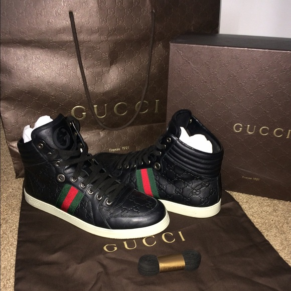 077ac91a40c Gucci Shoes | Mens Leather High Top Sneaker | Poshmark