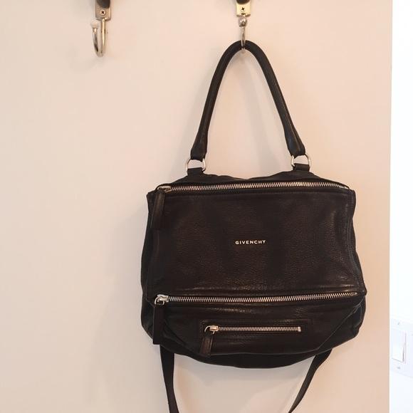 autumn shoes outlet boutique authorized site GIVENCHY Black Pandora Medium Pebbled Leather Bag