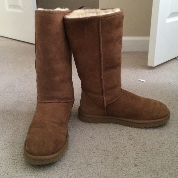 ugg classic long boots chestnut