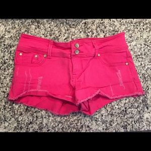 Denim - Hot Pink Shorts