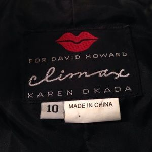 Climax Karen Okada Other - Leather Black & White and Suede Jacket and Skirt