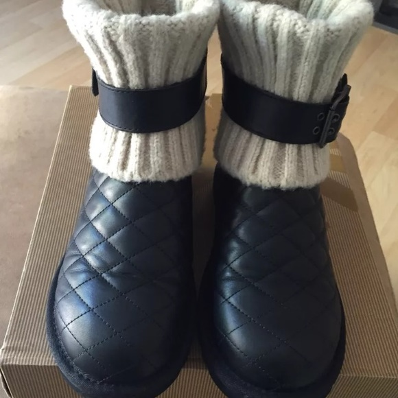 UGG Australia Cambridge Boot Black Diamond Quilted