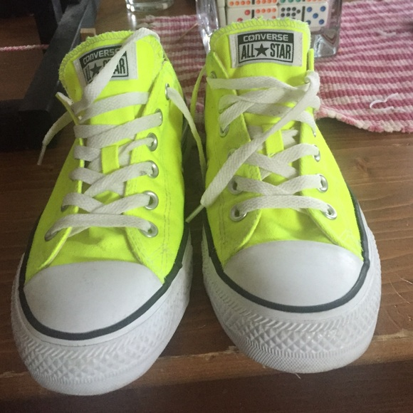 5886e1ecf276 Converse Shoes - Neon yellow converse (size 9 women s 7 men s)