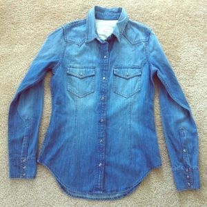 Club Monaco denim shirt XS