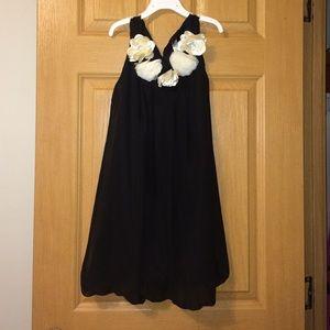 Kids Black Flower Dress