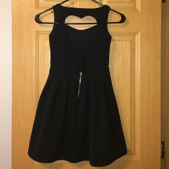 Dresses & Skirts - Open Heart Back Black Dress