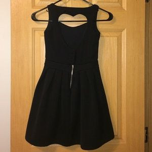 Dresses - Open Heart Back Black Dress