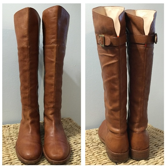 55% off Coach Boots - Cognac Real Leather Knee High Boots (Frye ...