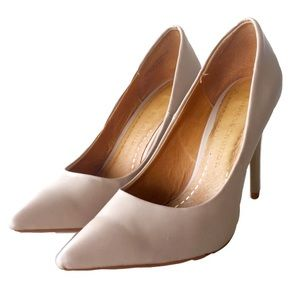 HPNeapolitan Nude Leather Pumps
