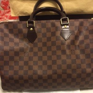 Authentic Louis Vuitton Speedy 35 Ebene